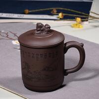 紫砂杯茶杯纯手工原矿老紫泥全手工办公室泡茶水杯刻字礼品杯
