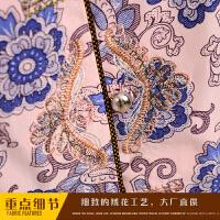 2018新款中老年人女�b夏�b�杉�套�����b短袖60-70-80�q奶奶�b套�b老人衣服 L 建�h70-85斤