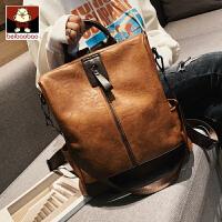 北包包双肩包女包包大容量旅行软皮背包2019新款潮版百搭休闲书包