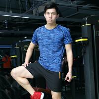 夏季速干短袖男运动T恤女跑步宽松情侣长袖快干衣透气半袖健身衣