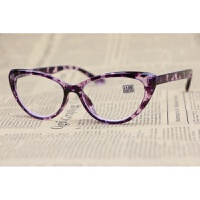豹纹猫眼框老花镜阅读高清镜片紫qg 黄玳瑁+275