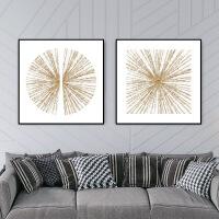 北欧风格抽象图案艺术个性创意客厅挂画沙发背景墙现代简约装饰画 40*40CM 木纹色边框 成品