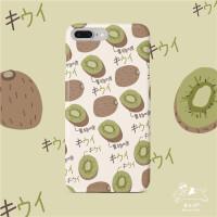 夏天苹果猕猴桃手机壳iphone6s保护套7/8plus清新绿色xsmax滑
