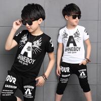 男童夏装新款套装夏季童装儿童短袖运动装韩版中大童两件套潮
