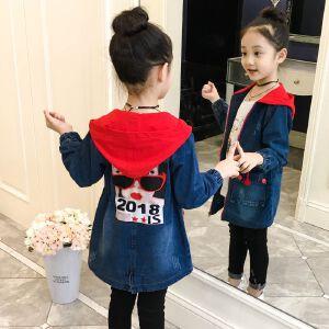 童装秋季新款女童2018牛仔风衣中大童韩版休闲外套