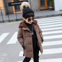 童装男童秋冬装加厚棉衣外套2018新款儿童加绒宝宝韩版棉袄潮