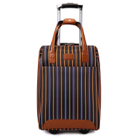 霸王虎拉链牛津布手提拉杆包旅行箱男女电脑行李密码子母登机箱包