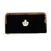 钱包女长款韩版拉链女士钱包小皇冠大容量多卡位女式手拿钱夹皮夹