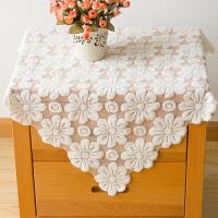 多用方巾盖布镂空蕾丝洗衣机电视机冰箱微波炉床头柜盖巾套防尘罩
