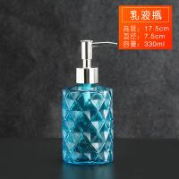 ins洗手液瓶玻璃洗发水沐浴露空瓶子按压式乳液分装瓶洗浴皂液瓶