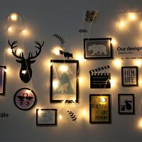 大学生宿舍寝室创意壁纸自粘墙贴LED串灯卧室墙壁贴画布置装饰品 大