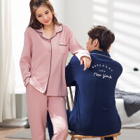 情侣睡衣女士秋冬季长袖棉2019潮款可爱两件套装男士冬天家居服