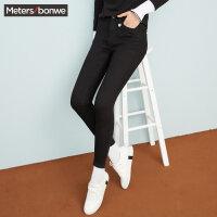 【1件3折到手价:44.97】美特斯邦威牛仔裤女冬装新款百搭紧身铅笔裤韩版显瘦商场款