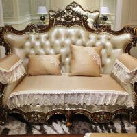 欧式沙发垫四季通用藤席坐垫防滑客厅皮组合沙发套罩巾定做