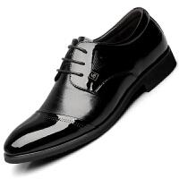 波图蕾斯皮鞋当季爆款男士英伦正装鞋系带商务休闲皮鞋男
