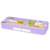 密码锁文具盒男女童儿童可爱KK兔铅笔盒小学生双层多功能笔盒