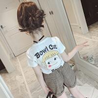 女童白色短袖夏装儿童t恤夏季纯棉体恤大童上衣T半袖