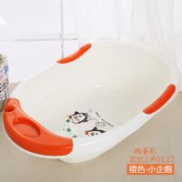 婴儿洗澡盆初生儿新生儿大号加厚小孩可坐躺0-2岁1-3儿童家用浴盆 橙色鹅蛋款2:小企鹅 (送两鸭子两球)