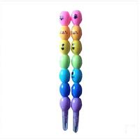 多头铅笔7节7色2支装小豆豆HB免削铅笔 串串笔 学生可替换免削