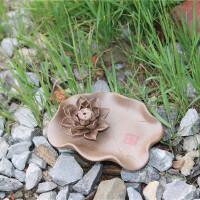 景德镇陶瓷莲花香盘檀香创意线香家用香炉配件托器居室佛堂