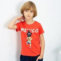 【1件2.5折到手价:37.3】米喜迪mecity童装男童t恤印花绣标短袖儿童t恤夏新款