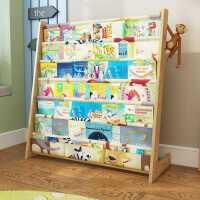 儿童书架卡通实木落地书柜简易幼儿园宝宝置物架小学生绘本小书架