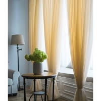 窗帘纱帘布简约现代窗纱布料飘窗落地白色沙遮光定制成品阳台纱帘