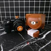 轻松熊可爱微单相机包相机套皮套索尼A5100 A6000 A6300 M6