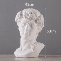 创意美式维纳斯雕像摆件家居装饰品艺术品欧式摆台人物美术石膏像 大号大卫