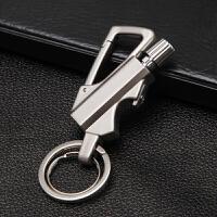万次火柴钥匙扣 男士汽车钥匙腰挂打火机 多功能划火可刻字