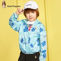 【2件5折:149】暇步士童装男童皮肤衣2020春装新款儿童上衣外套印花中大童防晒衣