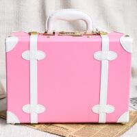 复古手提箱子可爱小号行李箱女迷你旅行箱小清新登机化妆箱包小型
