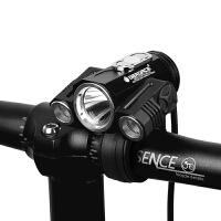 自行车灯T6车前灯夜骑强光单车配件骑行装备山地车充电前灯