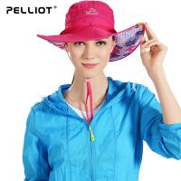 【领券到手价:52】伯希和 户外遮阳帽 女防晒帽夏季沙滩帽透气太阳帽运动户外帽