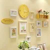 照片墙装饰相框墙相片框相框创意个性挂墙组合相片墙客厅简约现代 A款 原白搭配+森系元素画芯