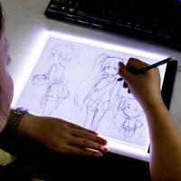 A4拷贝台LED临摹台动漫复写绘图画板发光板透写台素描漫画工具箱画画神器美术建筑手绘一键拷贝专业临摹神器