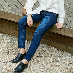 [AMII东方极简] JII东方极简 2018新款女装春装直筒牛仔裤原宿休闲ins裤子