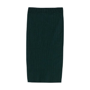 【2件2.5折到手价:22.5】美特斯邦威女抽条肌理包臀毛织半裙