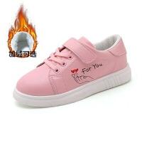 儿童运动鞋女童鞋韩版秋季平底学生休闲鞋女孩板鞋中大童软底皮鞋