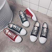 夏季帆布鞋男士休闲鞋男韩版布鞋男鞋运动平板鞋透气学生潮流鞋子