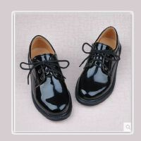 20191124102950935喜言熊 男女童皮鞋舞蹈鞋主持黑白色亮面皮鞋学生大合唱黑白色