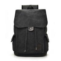 韩版双肩包男时尚潮流帆布包休闲旅行包背包青年高中小学生书包男
