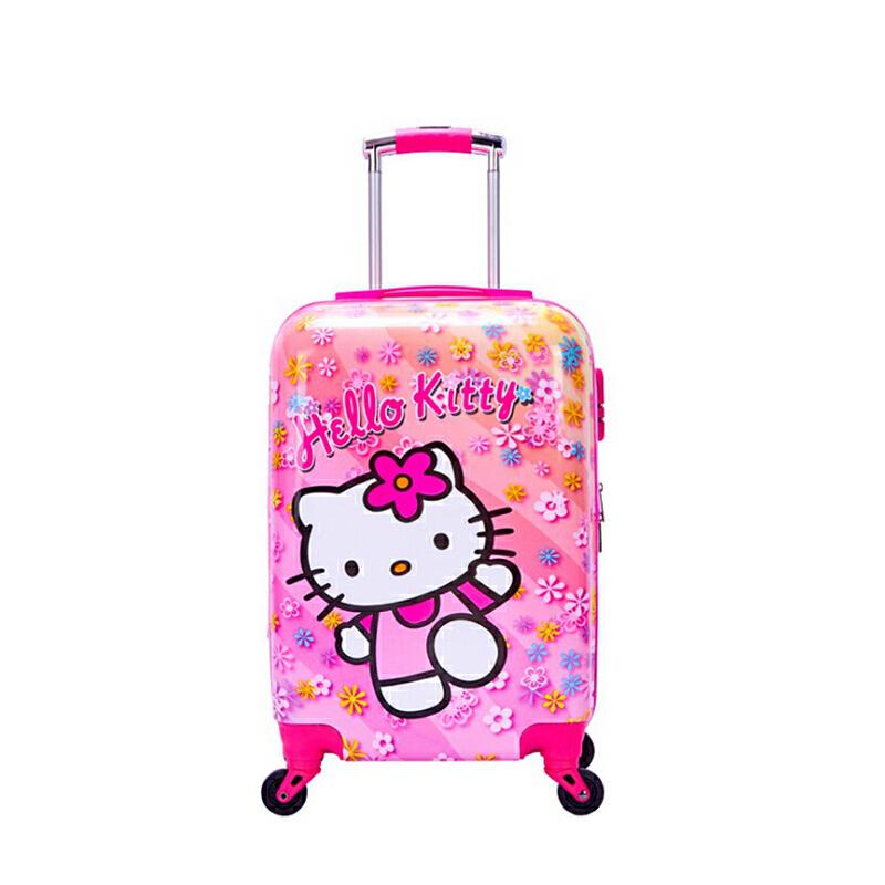 儿童拉杆箱卡通旅行箱公主女童18寸小孩行李箱男20寸万向轮皮箱子