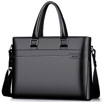 男包手提包休闲横款公文商务男士单肩包s6 黑色【810J009L1A】