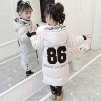 儿童女宝宝冬装2018新款中长款加厚洋气小女孩棉袄冬女童棉衣