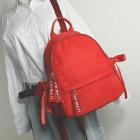 韩版新款牛津布双肩包女学院风百搭学生校园书包大容量背包潮