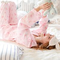 月子服产妇产后哺乳睡衣孕妇全棉套装 春夏棉纱布