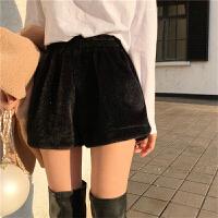 阔腿裤女秋冬新款韩版宽松百搭高腰短裤热裤学生显瘦直筒裤
