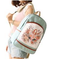 女夏书包 中学生背包 帆布双肩电脑包 休闲学院风包包