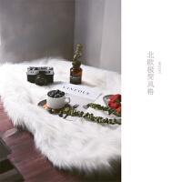 拍照毛毯长毛绒布地毯背景布 美妆饰品包包拍摄影摆件道具